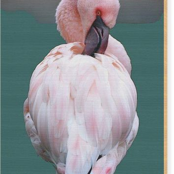 Pink Flamingo Art Print - Wood Print