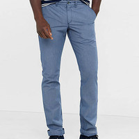 Slim Blue Microprint Finn Chino Pant from EXPRESS