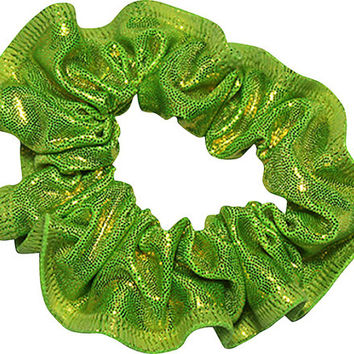 LIME MYSTIQUE Hair SCRUNCHIES to Match your Leotard Gymnastics Gymnast Hair Tie Accessory Scrunchie