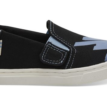 TOMS - Tiny Luca Black Canvas Glow In The Dark Sneakers