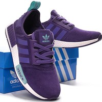 fashion adidas women trending nmd running sports shoes purple