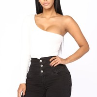 Valeria One Shoulder Bodysuit - Ivory
