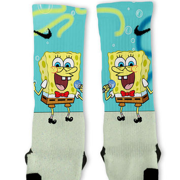 Spongebob Custom Nike Elite Socks