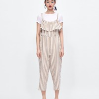 STRIPED CULOTTE JUMPSUIT - JUMPSUITS-WOMAN | ZARA United States
