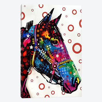 """Lonely Horse by Dean Russo Canvas Print 18"""" L x 26"""" H x 0.75"""" D"""