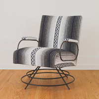 HS Collection Mid Century Black Wire Chair