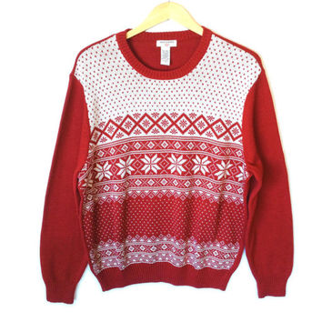 Dockers Snowflake Classic Nordic Ugly Christmas Sweater