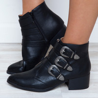 Truth Or Dare Buckle Booties