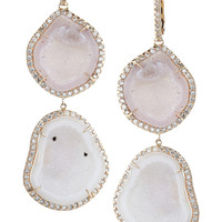 Kimberly McDonald | 18-karat rose gold, diamond and geode earrings | NET-A-PORTER.COM
