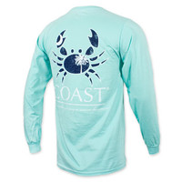Coast Pawleys Island Crab Long Sleeve Pocket T-Shirt - Clearwater Blue