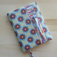 Composition Notebook Cover~ Retro Flower and Subway Tile~ Makes a Great Gift