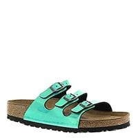 Birkenstock Women's Florida Soft Footbed Sandal Mirror Green Birko-Flor Size 41 M EU Color: Mirror Green Birko Flor Size: 41 M EU, Model: 00553923/00553921, Tools & Outdoor Store
