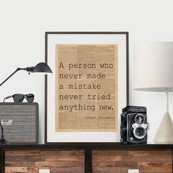 Albert Einstein Quote Science Poster Science Art Geek Posters Atheist Print Wall Art Scientist Poster Albert Einstein Typography Poster Art