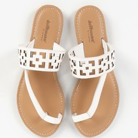 Dollhouse Invasion Toe Ring Cut Out Sandals
