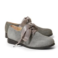 Suede Oxford Shoes - Brooks Brothers