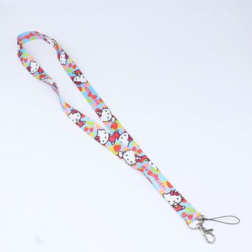 Brand New Hello Kitty Face light blue Lanyard
