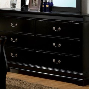 Glided Adroit Wooden Dresser, Black