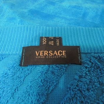 VERSACE TOWEL FACE / HANDS GREEK KEY SPORT ITALY AUTHENTIC NEW 1 left SALE