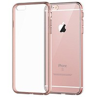 JETech Shock-Absorption Anti-Scratch Bumper Case for iPhone 6/6s (4.7-Inch) - Rose Gold