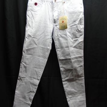 Red Jeans Women's White High Waist Skinny Jeans Size 14