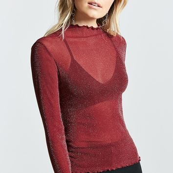 Contemporary Mock Neck Top