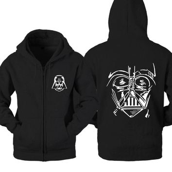 Dark Side Star Wars The Banite Sith Empires Order Darth Vader Casual woman cotton full zip hoodies