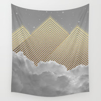 Silence is the Golden Mountain (Stay Gold) Wall Tapestry by Soaring Anchor Designs