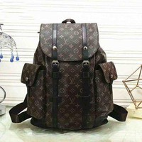 LV x Supreme Fashion Leather Daypack Travel Bag School Bag Bookbag Backpack F/G-LLBPFSH