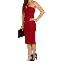 Sale-red Alert Midi Dress