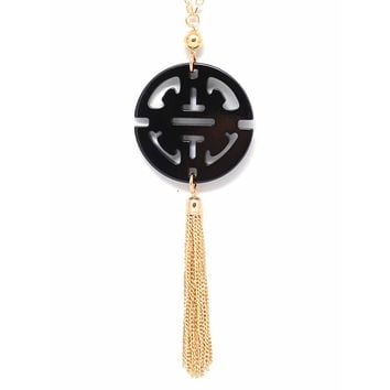 Travel Tassel Pendant Necklace