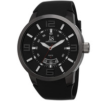 Joshua & Sons Silver-tone Metal Black Dial Quartz Mens Watch JS64BK
