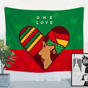 Bob Marley Retro Poster Jamaican Reggae Rock Music Flag Banner Tapestry Wall Sticker Bar Cafe Bedroom Background Decor Cloth