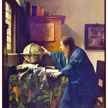 The Astronomer by Johannes Vermeer Counted Cross Stitch or Counted Needlepoint Pattern