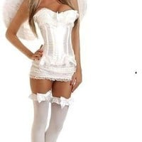 Daisy 4 PC Burlesque Angel Corset Costume