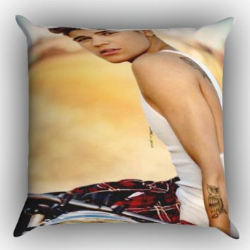 justin bieber sexy Z1519 Zippered Pillows  Covers 16x16, 18x18, 20x20 Inches