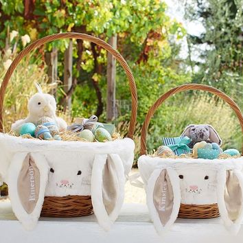 Taupe Bunny Easter Basket Liners