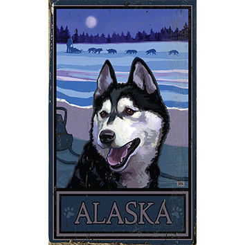 Personalized Alaska Wood Sign