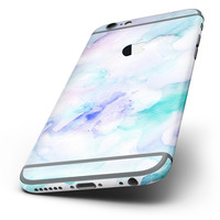 The Mint 9 Absorbed Watercolor Texture Six-Piece Skin Kit for the iPhone 6/6s or 6/6s Plus