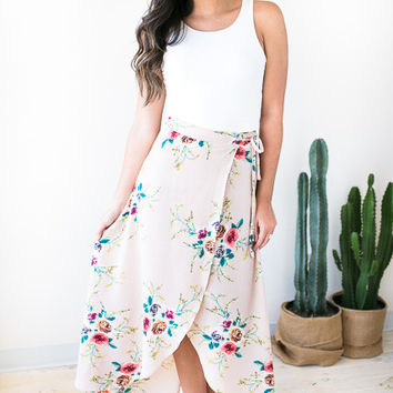 Dream of Me Floral Wrap Skirt