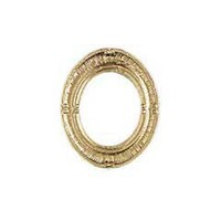 Classic Oval Ornate Gilded Picture Frame @ miniatures.com