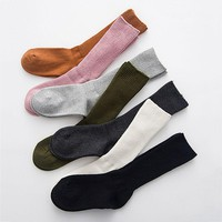 Fashion Women Thermal Knee High Socks Trim Cotton Boot Stockings Knit Leg Winter Warm Socks