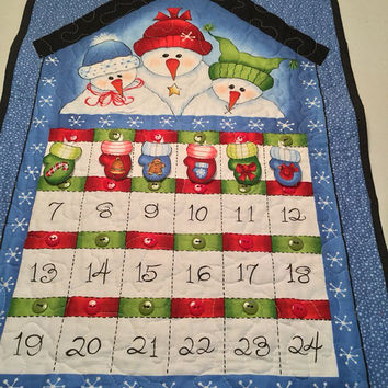 Snowmen Advent Calendar Ready to Ship