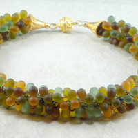 Fall Colored Kumihimo Necklace