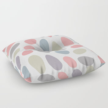 Colorful pastel pebbles Floor Pillow by ARTbyJWP