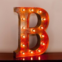 "24"" Letter B Lighted Vintage Marquee Letters with Screw-on Sockets"