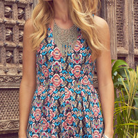 Flower Power Printed Romper