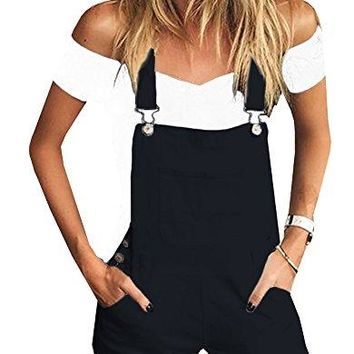Women's Short Pockets Jumpsuits Inorin Bib Romper Overalls Shortalls For Summer