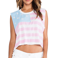 Wildfox Couture American Baby Chad Tank in Blue