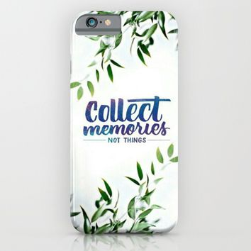 collect memories; iPhone & iPod Case by Pink Berry Patterns