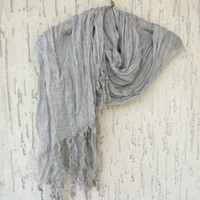 Handwoven infinity scarf,  Grey Scarves, Natural,Organic Scarf, Fashion accessories, Women Scarves